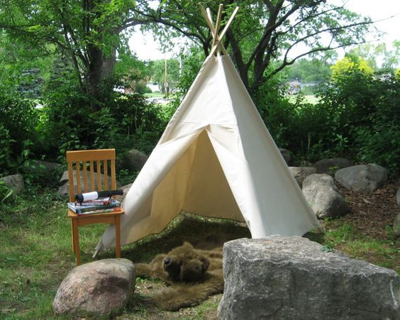 canvas tipi - canvas tent teepee
