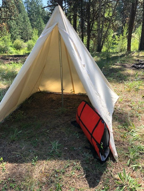 single pole tent with bow case