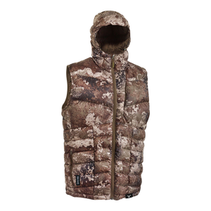 TrueTimber Lightweight Packable Down Hooded Vest