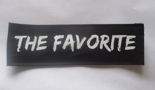 THE FAVORITE Black Word Patch