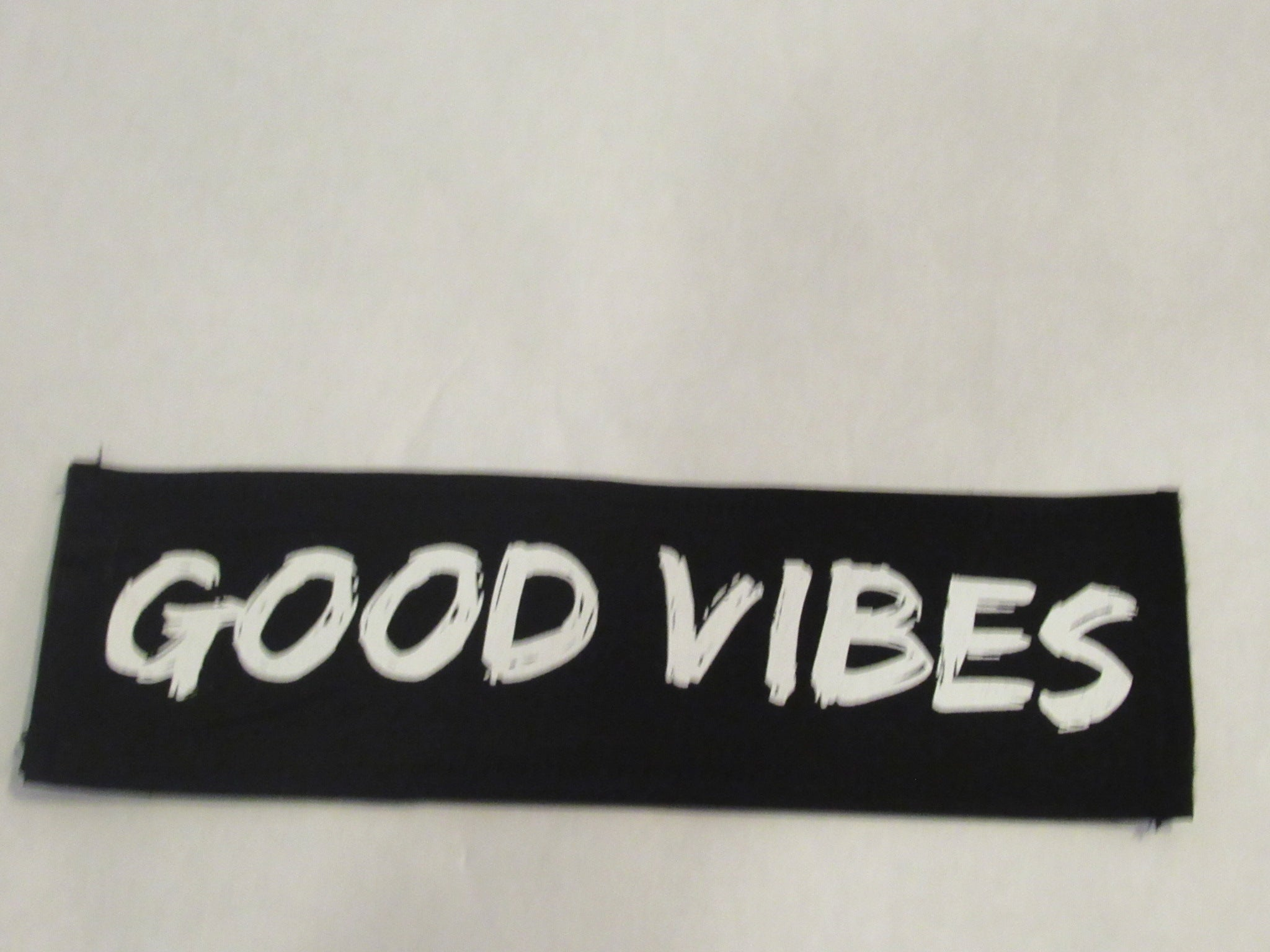 GOOD VIBES Black Word Patch