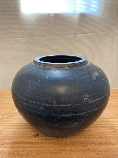 Vintage Black Pottery, Two Sizes