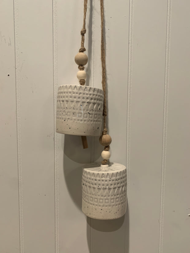 Stoneware Bells, Set of 2