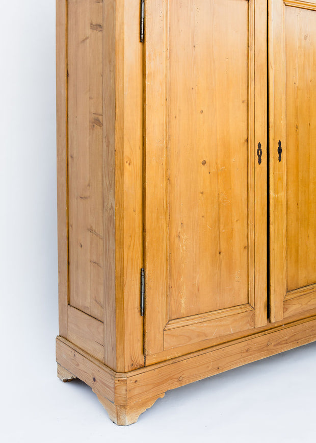 Vintage French Pine Armoire, Round Top Vintage