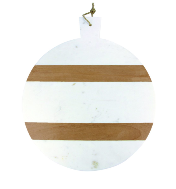 Marble & Wood Stripe Bread Board
