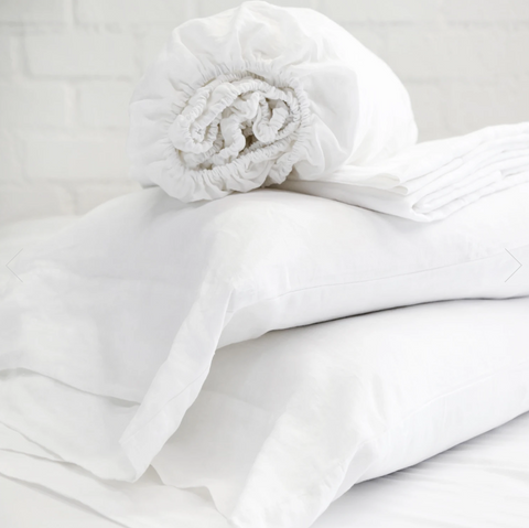 Linen White Sheet Set