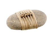 Zen Stone Wrapped in Leather, Two Colors