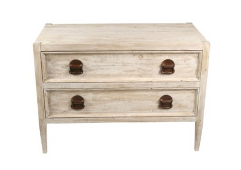 Rustic 2 Drawer Nightstand