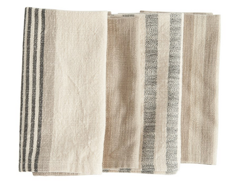Striped Napkins, Set of 4