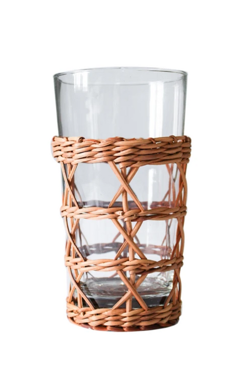 Rattan Cage Highball Glass
