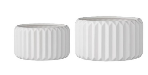 Millicent Fluted Flower Pot, Two Sizes