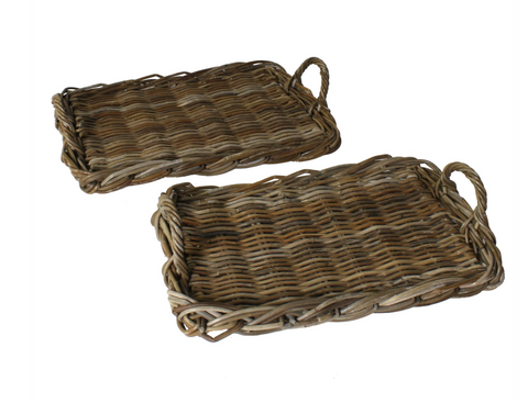 Dominic Rattan Tray, Two Sizes