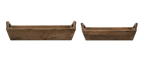 Lucinda Wood Trays, Two Sizes