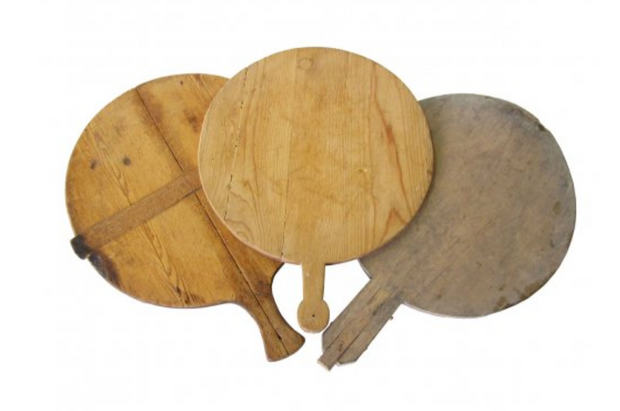 Vintage Round Bread Boards