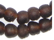 Dark Brown Recycled Glass Beads