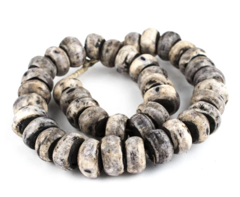 Grey Kenya Bone Beads