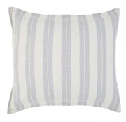 Denim and Ivory Striped Euro Sham