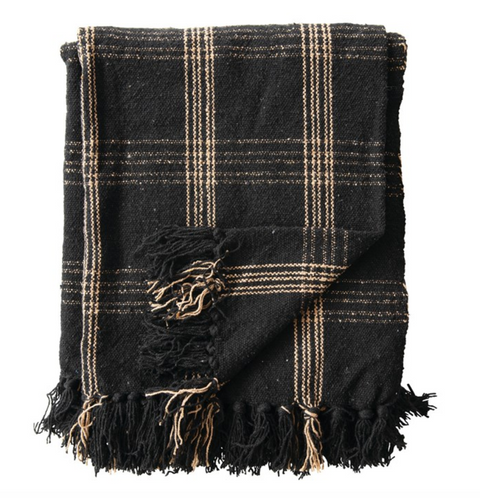 Woven Throw with Fringe