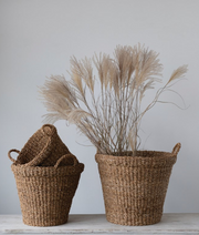 Seagrass Baskets with Handles