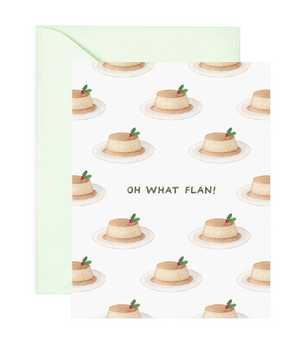 Oh What Flan! card