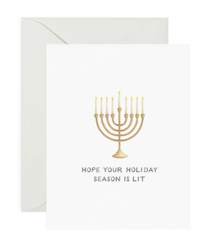 Hope Your Holiday Season is Lit card