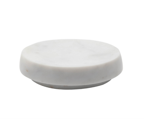 Round Marble Soap Dish