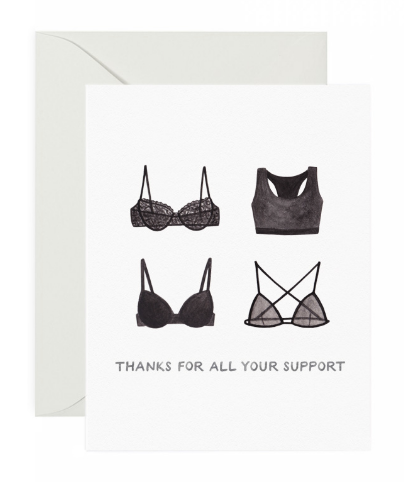 Bra Support Thank You Card