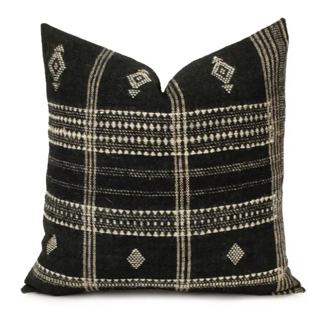 Black Indian Wool Pillow