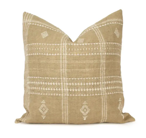 Beige Indian Wool Pillow