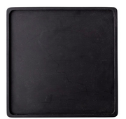 Square Acacia Wood Tray, Matte Black