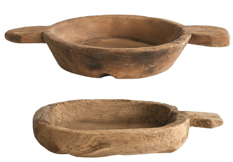 Found Decorative Wood Bowls - Various Sizes