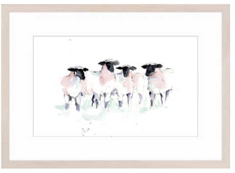 Watercolour Sheep II