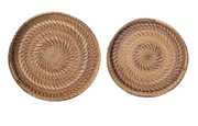 Woven Rattan Tray, Two Sizes