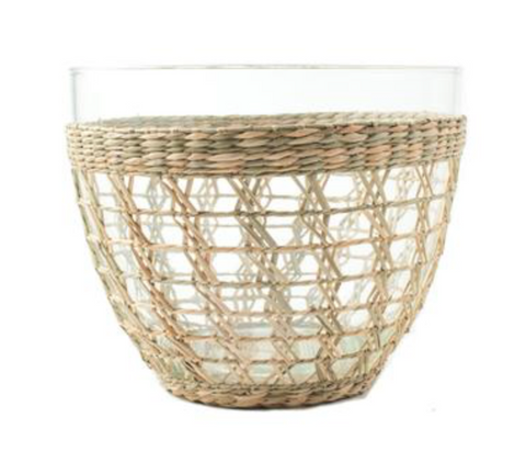 Seagrass Cage Salad Bowl, Two Sizes