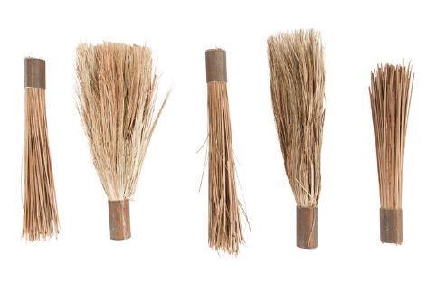 Decorative Wood & Metal Handheld Broom