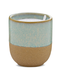 Mint Green Reactive Ceramic Candle, Two Sizes