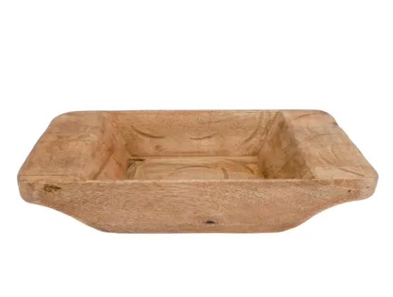 Crafted Oblong Dough Bowl, 2 Sizes