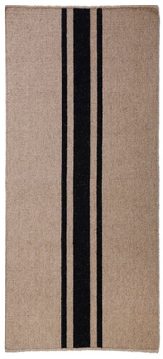 Natural and Black Flat Weave Rug - Three Sizes