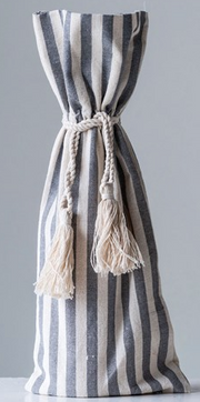 Cotton Striped Wine Bags, 2 Colors