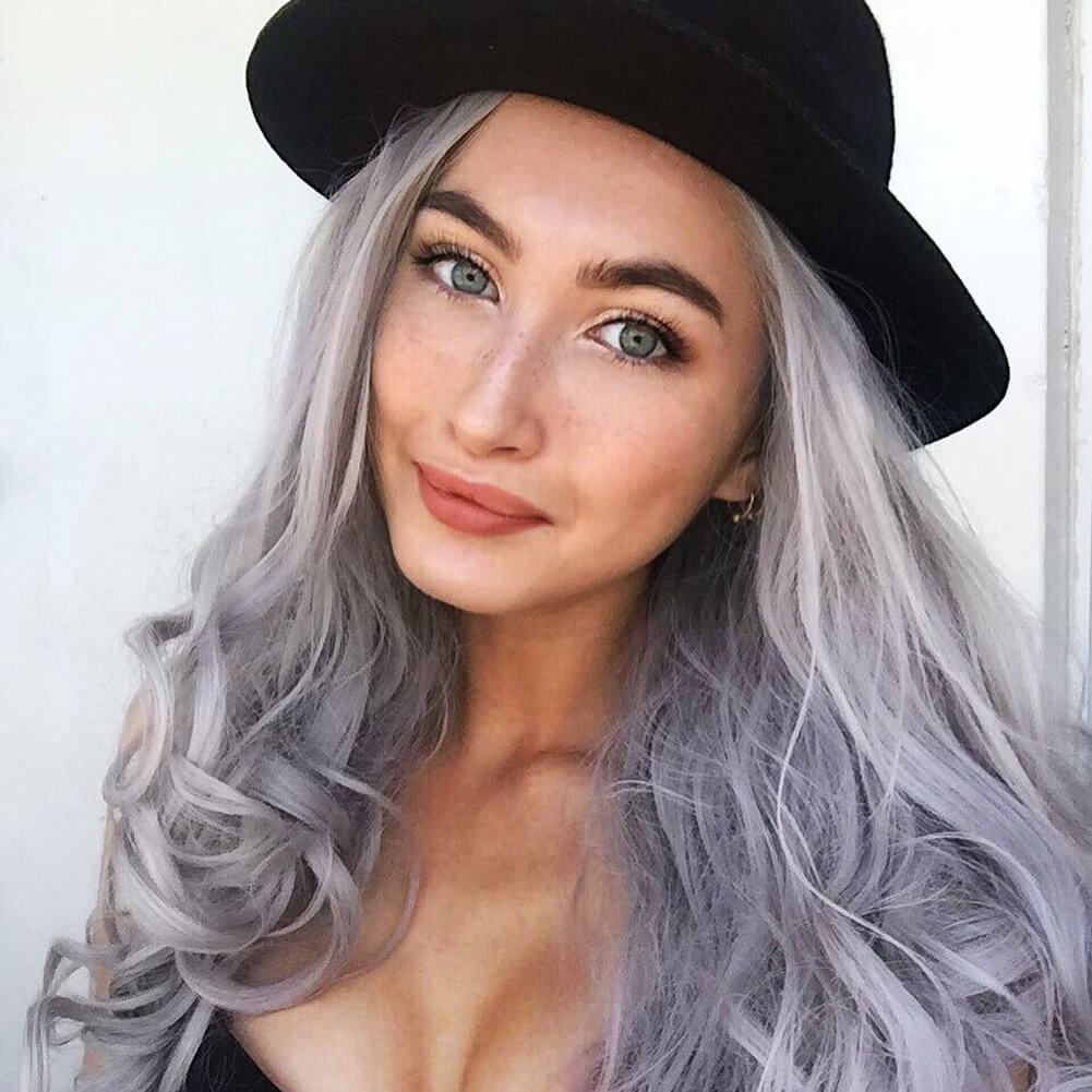 Gray Synthetic Lace Front Wig