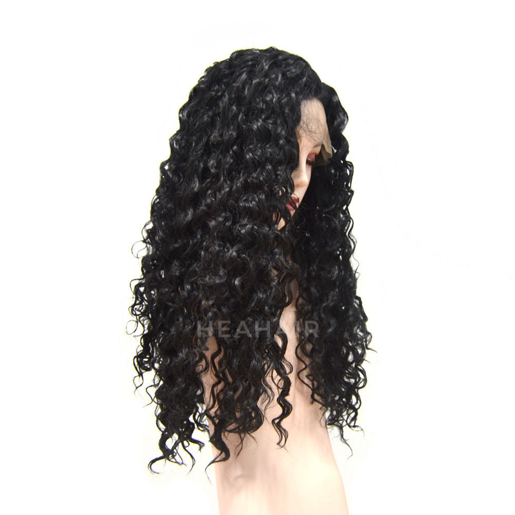 HEAHAIR Kinky Curly Synthetic Lace Front Wig