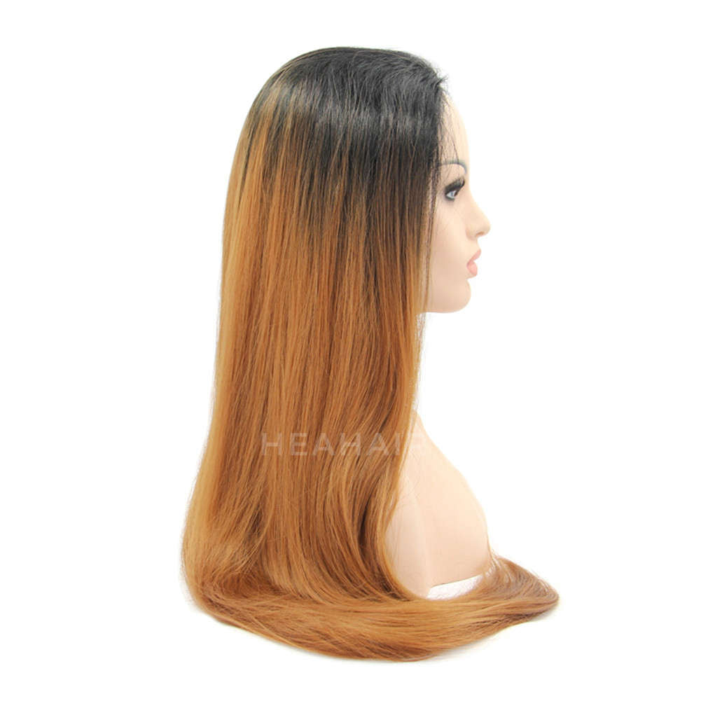 Ombre Brown Synthetic Lace Front Wig HS0001