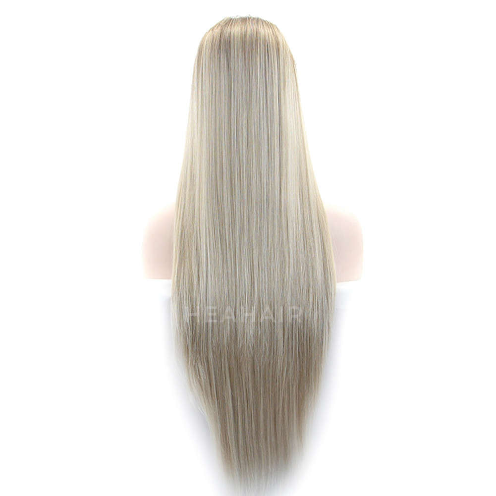 Natural Blonde Synthetic Lace Front Wig HS0002