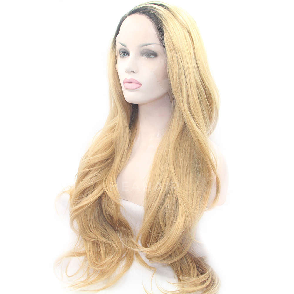 Ombre Blonde Synthetic Lace Front Wig HS0005