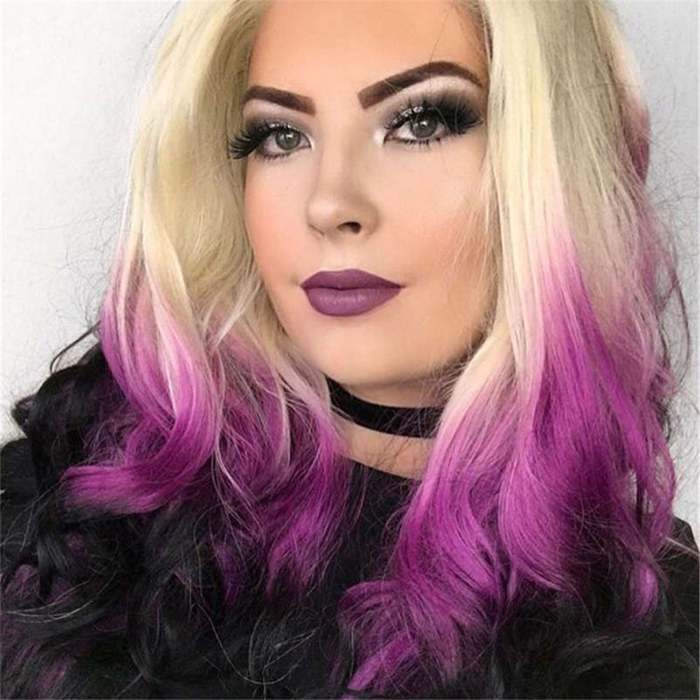 Ombre Purple Synthetic Lace front Wig HS0008