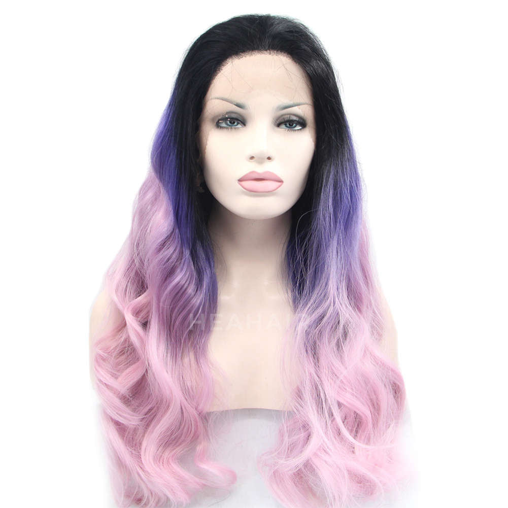 Ombre Color Synthetic Lace front Wig HS0009