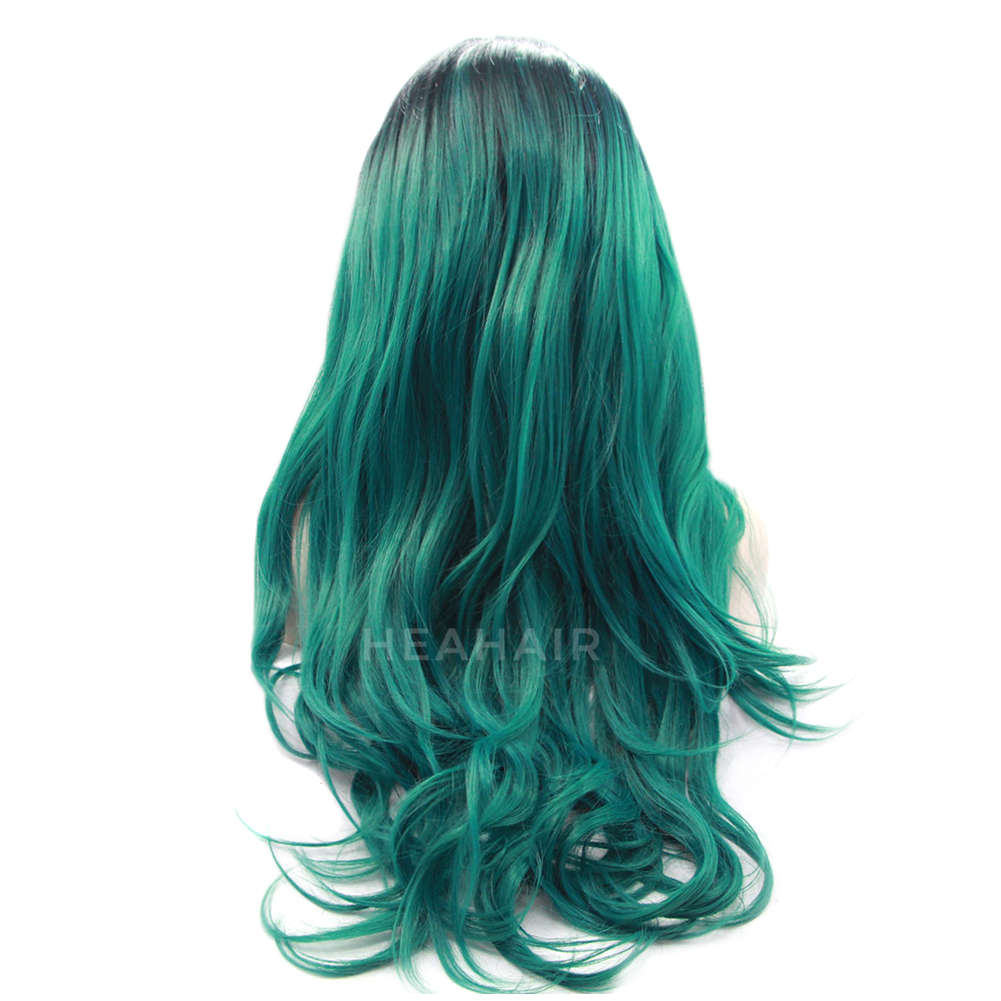 Ombre Green Synthetic Lace Front Wig HS0027