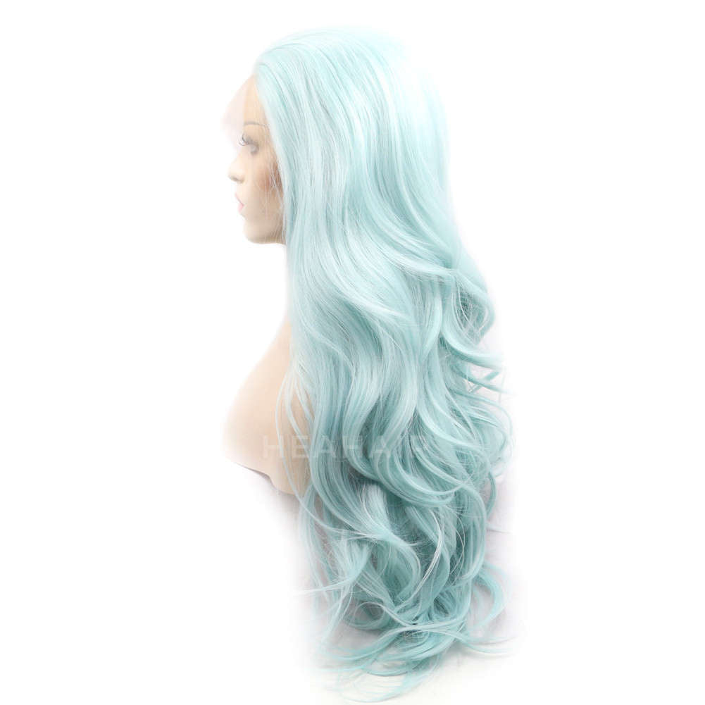 Green Synthetic Lace Front Wig HS0028