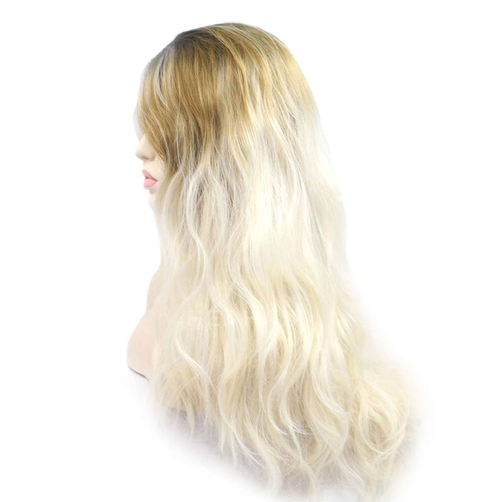 Ombre Blonde Synthetic Lace Front Wig HS0031