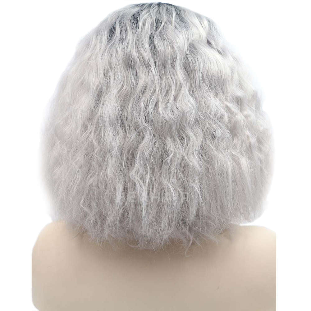 Ombre Silver Bob Synthetic Lace Front Wig HS0032